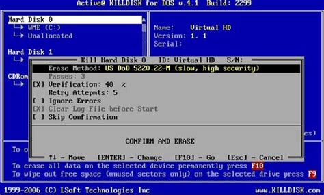 format hard disk in dos active killdisk hard disk eraser screenshots