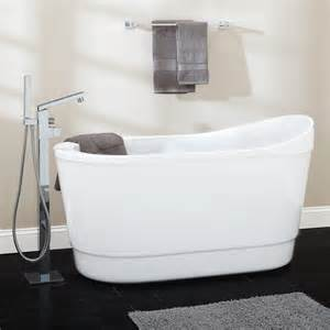 59 quot averill acrylic freestanding corner tub bathroom