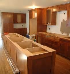how to install kitchen island cabinets kitchen island installation