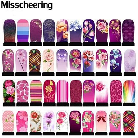 Nail Sticker Temporary Nail Stiker Kuku Flower 39 5sheets water transfer nail stickers flowers leopard