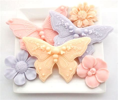 decorative flower butterfly and flower soaps decorative soap hostess gift soap