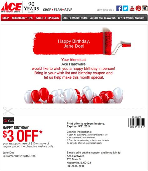 ace hardware email best 88 personalized emails images on pinterest technology