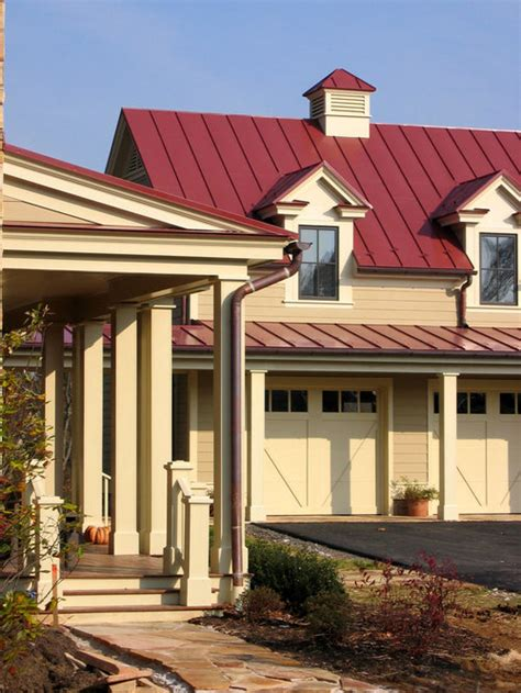 red metal roof home design ideas pictures remodel  decor