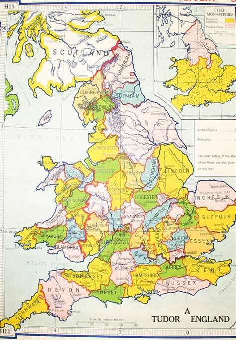 britains tudor maps county map of england 1600 bing images