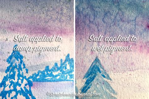 watercolor tutorial salt watercolor tutorial salt painting scratchmade journal
