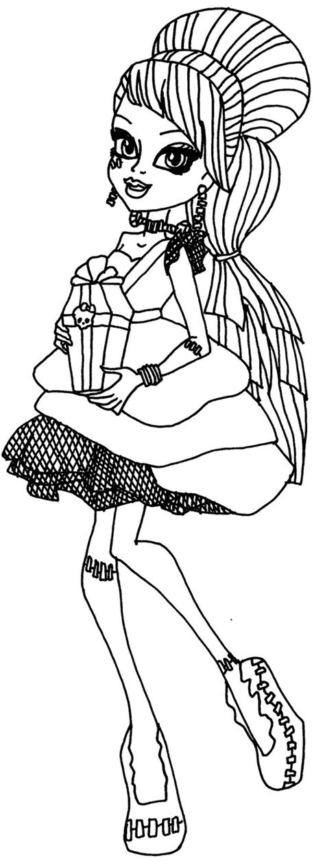 monster high coloring pages sweet 1600 frankie sweet 1600 by elfkena on deviantart