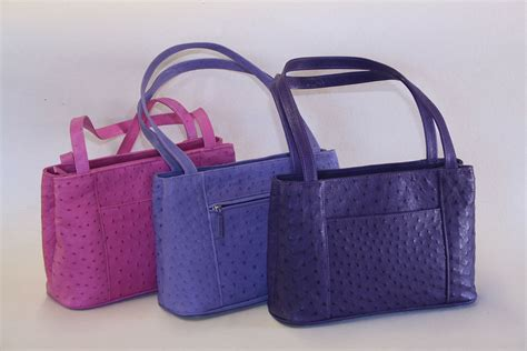 Hana Bag Farica Bags Purple south ostrich handbags