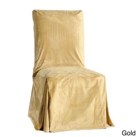 set of 2 fancy draped velvet dining chair covers