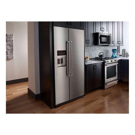 kitchenaid cabinet depth refrigerator krsc503ess kitchenaid 36 quot 22 7 cu ft counter depth