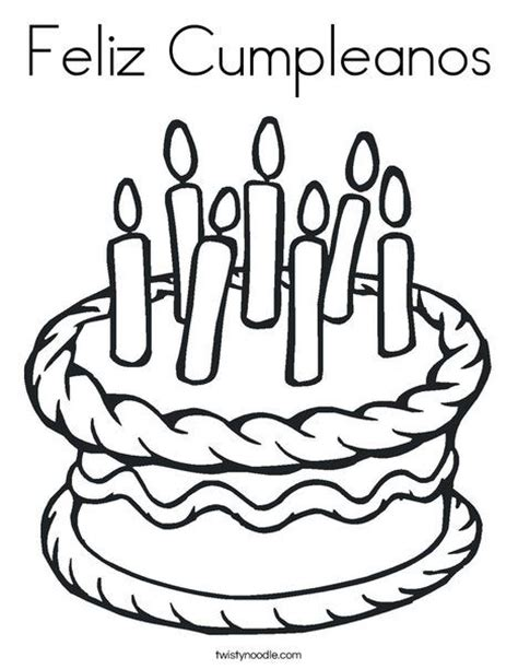 birthday coloring pages in spanish feliz cumpleanos happy birthday in spanish