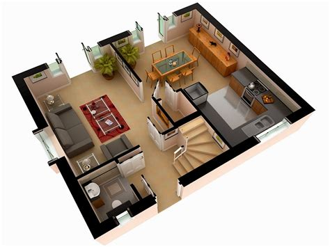 Home Design 3d 2 Story | multi story house plans 3d 3d floor plan design modern residential architecture floor plans