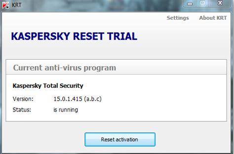 kaspersky key resetter 2015 kaspersky reset trial v5 0 0 111 for av is pure new release