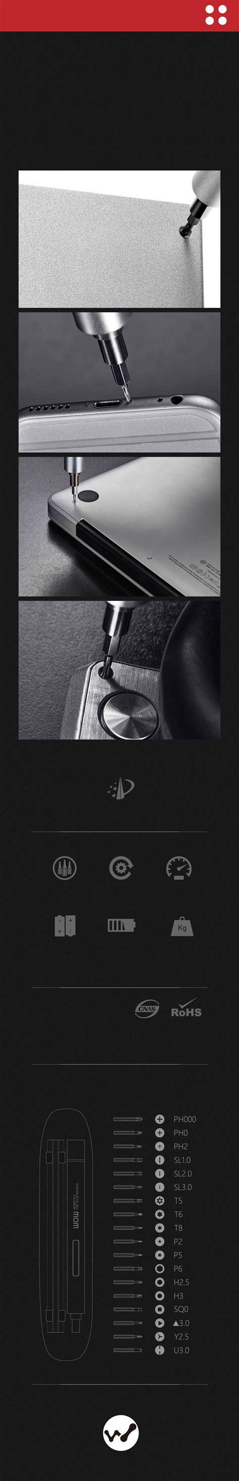 Original Xiaomi Wowstick 1fs Electric Driver xiaomi wowstick 1fs 19 in 1 electric driver cordless power screwdriver ebay