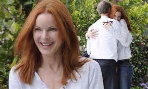 Marcia Cross Welcomes by Marcia Cross Dotes On Husband Tom Mahoney And Welcomes Him