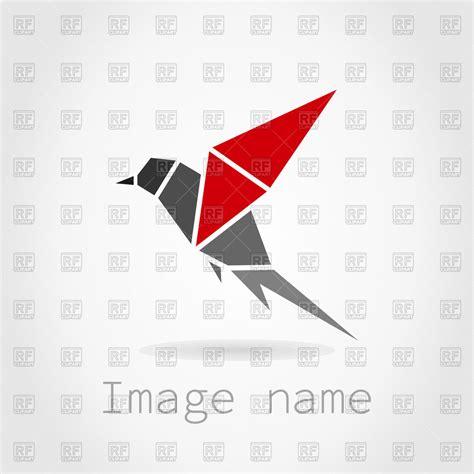 Origami In Flight - bird in flight origami icon vector image 82927 rfclipart