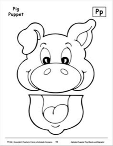 pig puppet template image result for animal paper bag puppets templates