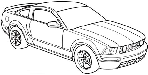 S197 Mustang Paint Template Ford Mustang Forum Car Outline Templates