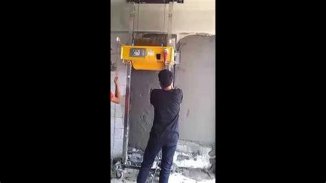 Mesin Jilid Td 202 R mobilitas mesin plester dinding tembok di proyek puri park