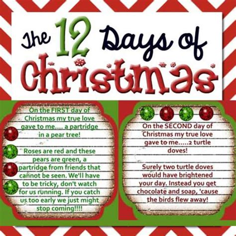 twelve days of christmas work the 12 days of