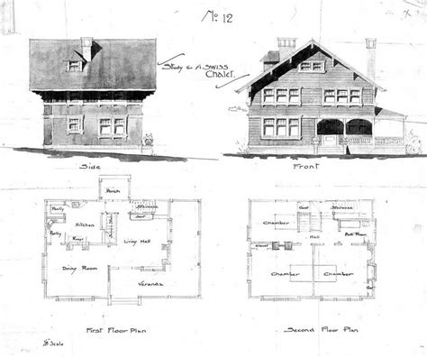 Swiss Chalet Floor Plans swiss chalet no 12 side front second floor