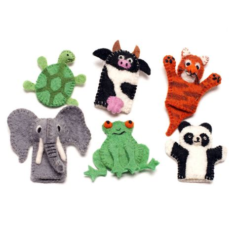 Handmade Finger Puppets - handmade felt animal finger puppet by felt so