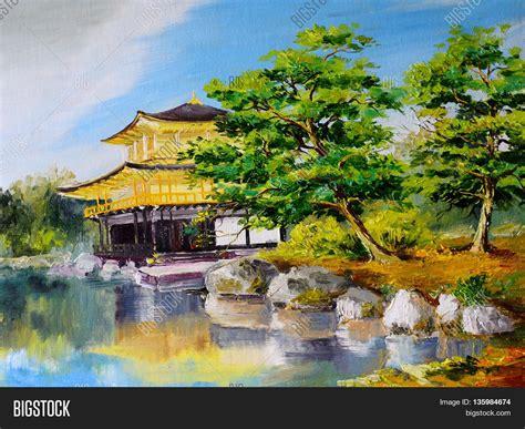 japanischer garten zeichnung painting japanese garden lake near the japanese home