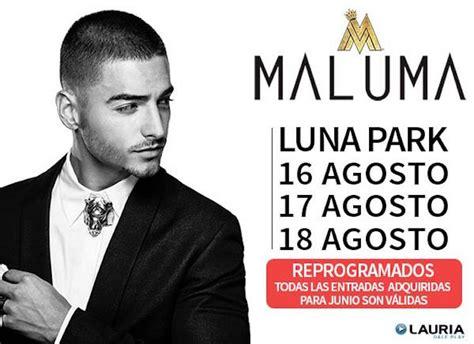 entrada para maluma argentina 2016 maluma en luna park 2016 entradas