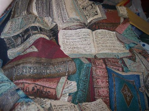 upholstery books book print tapestry fabric upholstery fabric 1 yd