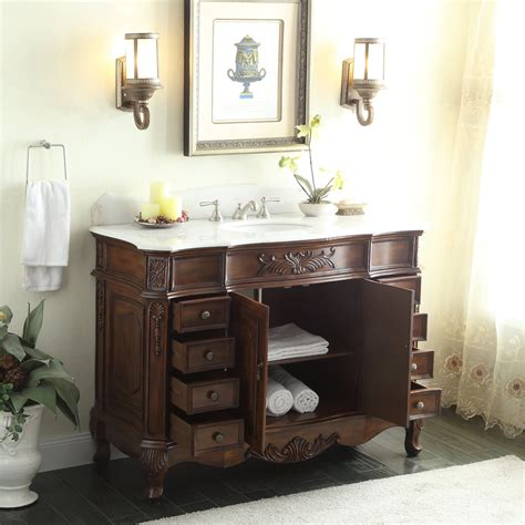 old fashioned bathroom vanity adelina 48 inch old fashioned look bathroom vanity fully