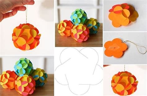 How To Make A Paper Bauble - diy paper baubles