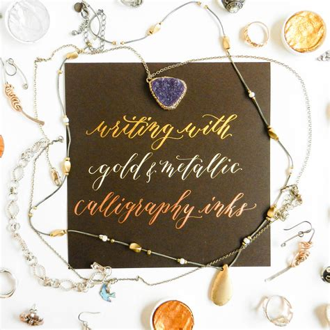 Brow Ink Gold a guide to using metallic and gold calligraphy inks the