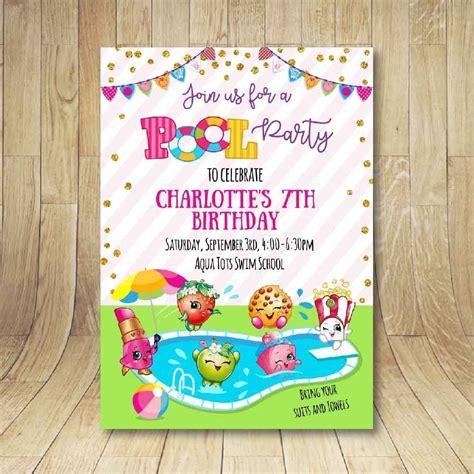 printable shopkins birthday decorations printable shopkins pool party birthday invitation n 10