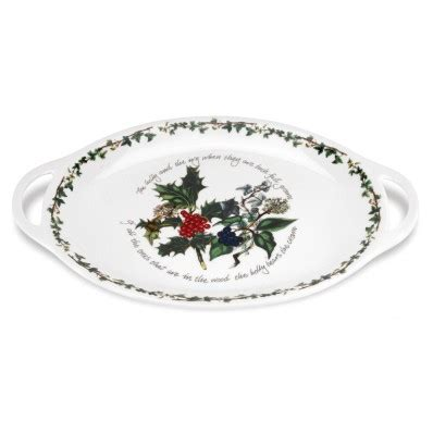 stockists portmeirion uk portmeirion holly and ivy oval handled platter