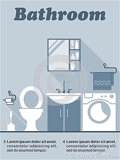 bathroom text bathroom flat interior decor infographic stock vector