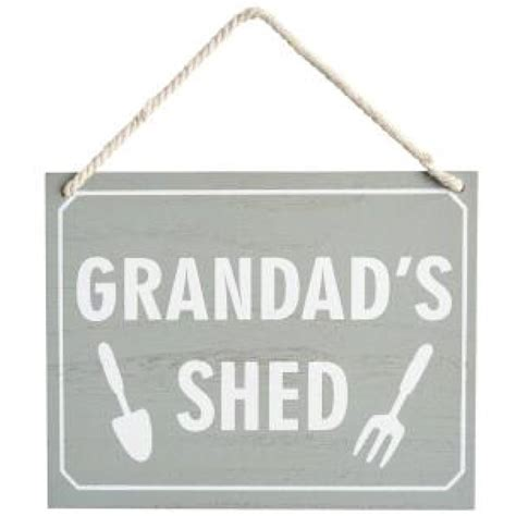 grandads shed wooden hanging sign for shabby chic