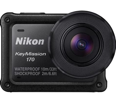 buy nikon keymission 170 4k ultra hd camcorder black free delivery currys