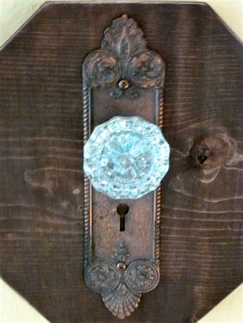 Glass Door Knob Wall Hooks by A Pair Of Antique Glass Door Knob And Wood Wall Hangers