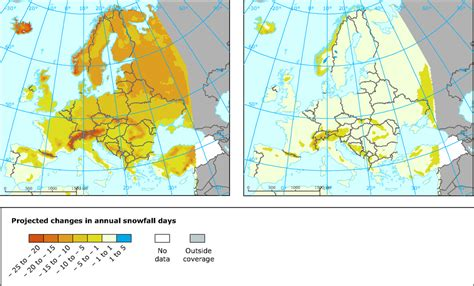 snowfall map snow cover european environment agency
