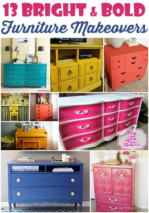 colorful bedroom furniture 13 bright and bold furniture makeovers domestic superhero