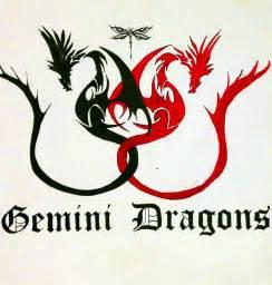 gemini dragons tattoo design tattoobite com
