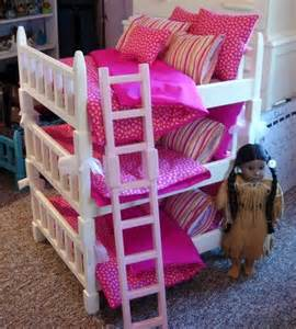 doll beds for american dolls doll bunk bed sized bunk set fits 6 american dolls or 18 inch dolls