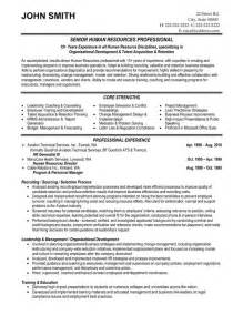Resume Format For Hr by Top Human Resources Resume Templates Sles