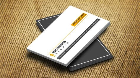 recording studio business card templates recording studio card cm169 business card templates on