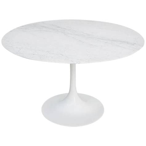 knoll saarinen dining table furniture carrara marble tulip dining table by eero saarinen for knoll int at 1stdibs