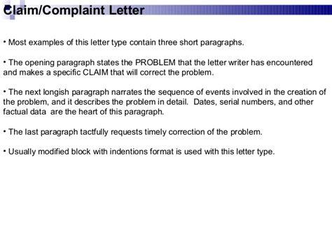Closing Sentence Complaint Letter Business Communication Chap 2 Business Writing