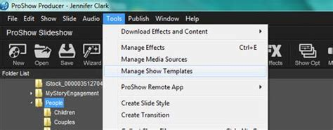 importing and opening proshow producer templates choice