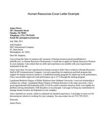 cover letter exles for human resources cover letter for human services cover letter exle