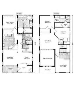 2 story floor plans wardcraft homes two story mobile second story house additions floor plans two story