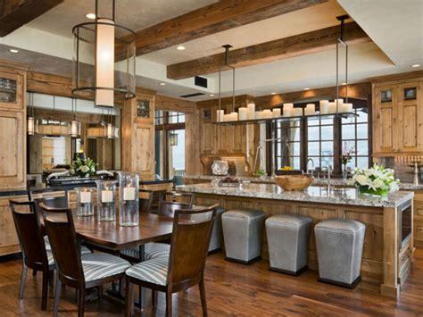 Modern Rustic Kitchen Design Rustic Modern Design Utilizes Character Grade Walnut Flooring Woodflooringtrends
