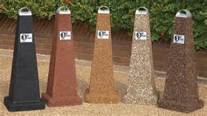 Concrete Benches Lowes Ash Stash Series Outdoor Ashtrays Aggregate Belson